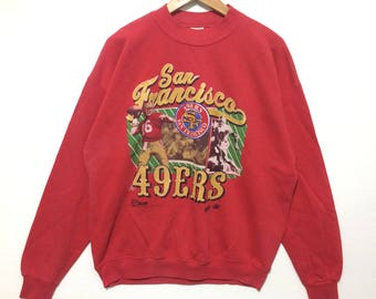 Vintage 1990's 49ers San Francisco Sweatshirt red Color