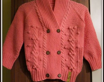 MADE TO ORDER  Hand-knitted toddler cardigan