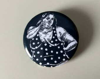 Big Lady with dots Pin