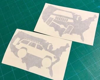 United States Jeep WJ Decal