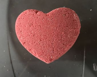 Red Heart bath bombs