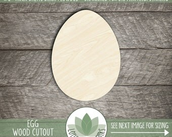 Wood Easter Egg Cutout, Wooden Laser Cut Easter Egg Shape, Unfinished Wood For DIY Projects, Wood Egg, Easter Decorations