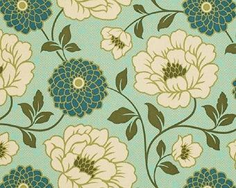"HUGE SALE Joel Dewberry  Free Spirit     ""Bungalow""  Dahlia  Forest  Sateen Fabric BTY"
