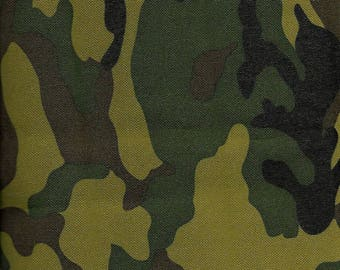 "Premium Vinyl Back Emboss Waterproof Canvas ""Camo""   REMNANT"