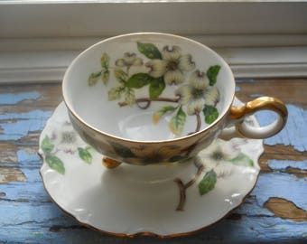 Ucagco Footed teacup and saucer