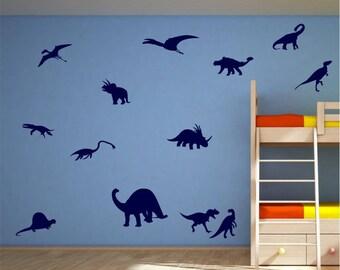 13x Dinosaurs Vinyl Wall Art Decals