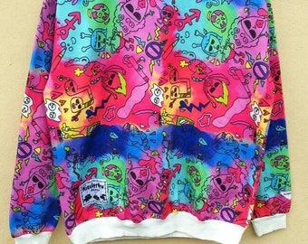 Pop Art designer Miauler Mew Black / Full print multicolour sweatshirts sweaters pullover hoodies multicolour design