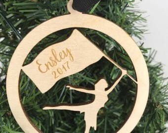 Color Guard Ornament, Winterguard Ornament, Custom Winterguard ornament, Custom Color Guard, Custom Ornament, Winter Guard Ornament