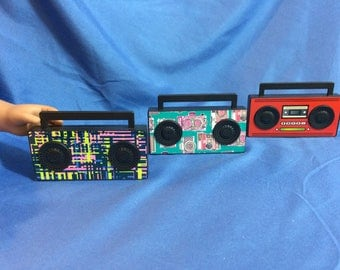 Boom Box Radio, Speakers for your 18 inch doll like American Girl Doll.