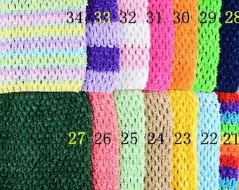 STRETCHY Rainbow crochet to create STRAPLESS GOWN 0-16 month TUTU