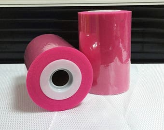 Tulle roll high quality Fuchsia 15 cm x 82 m for tutu and decoration.