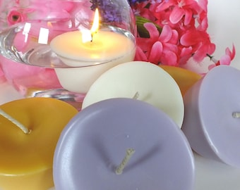 6 JUMBO Floating Candles - Soy Wax - 10hr Burn Time - Fall Scents Are Here!!