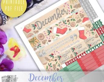 50% OFF! ERIN CONDREN December Monthly View Kit – Printable Planner Stickers