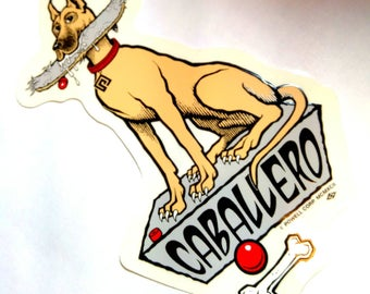 The Caballero Dog Sticker AUTOGRAPHED Powell Peralta Bones Brigade Decal RARE 80s