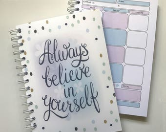 Food Diary Journal - Diet Planner - Slimming World Compatible - Menu Planning - Notebook -Tracker ( 3 Months) - PLANNER 6