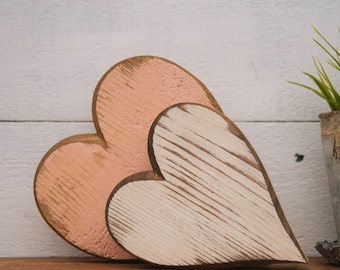 Medium Handmade Wooden Heart