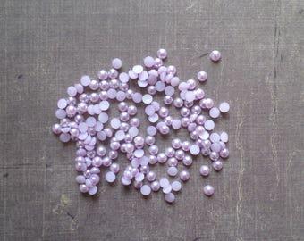 240 half bead 4 mm Violet Purple
