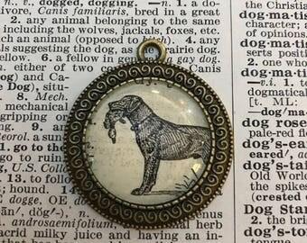Handmade Vintage Dictionary Dog Necklace - Labrador Retriever