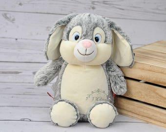 Personalized Bunny Stuffed Animal-Personalized Birth Rabbit Cubby-Personalized Stuffed Bunny-Birth Stats Bunny-Birth Stat Stuffed Animal