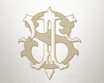 Wedding Monogram Design - ST TS - Wedding Monogram - Digital