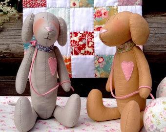 Tilda Dog 2018 Chinese Zodiac Animal Textile doll Christmas gift for children Dog toy Stuffed animals boyfriend girlfriend New Year Present