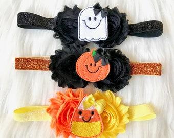 PICK 1 Halloween Headband, Halloween Baby Headband, Baby Headband, Baby Girl Headband, Infant Headband, Newborn Headband, Holiday Headband