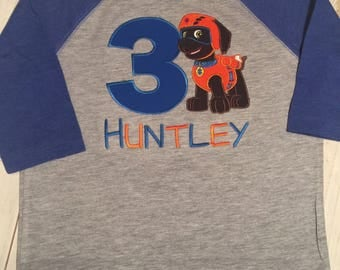 Paw patrol pup with number