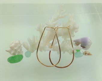 Medium Gold Horseshoe Hoop Earrings