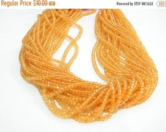 on sale Super fine quality citrin glass  Faceted roundel 14 inch strand 2.5-3 mm approx