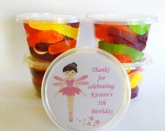 5 Fairy Party Favours | Personalised tubs | Alternative to party bags for parties as thank you gifts.