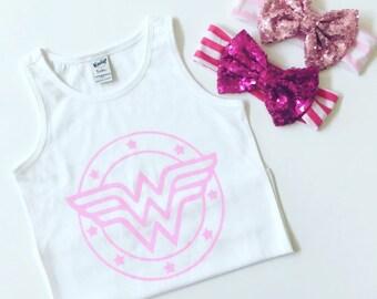 Wonderwoman Onesie/ baby clothes/ wonder girl