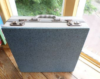 "Vintage Cheney 12"" vinyl record case / platenkoffer / lp carry case / lp storage case / schallplattenkoffer, with keys 1960s"