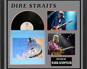 Dire Straights - Brothers In Arms - Signed Vinyl Album Custom Framed