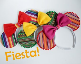 """Fiesta! Mouse Ears - """"Three Caballeros"""" Trio; Saludos Amigos, Donald Duck, Jose, and Panchito Minnie Ears"""