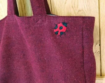 SALE Hand Crafted Harris Tweed tote style bag