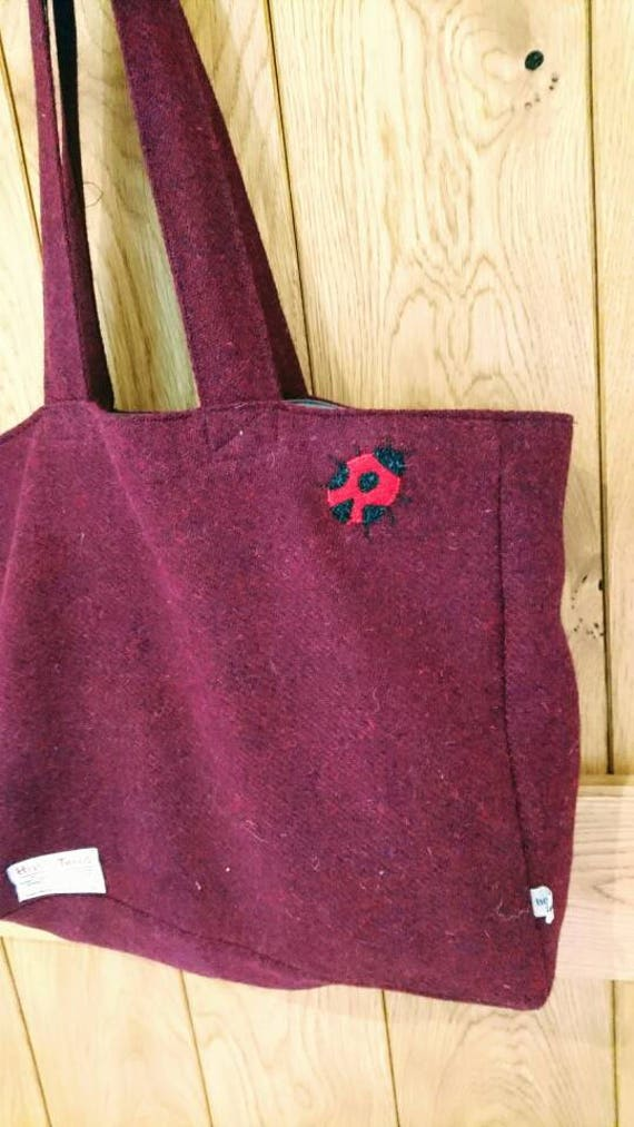 SALE Hand Crafted Harris Tweed tote style bag