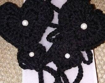 Crochet Barefoot Sandal, Barefoot sandals Two hearts, Beach sandals