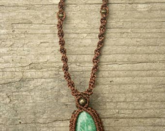 Macrium Necklace with Amazonite