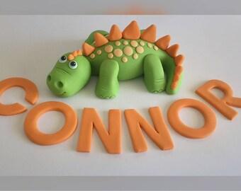 Dinosaur cake topper set