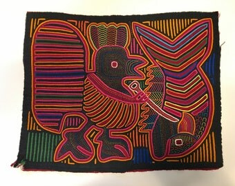 Vintage Panama Mola Embroidered art ***FREE SHIPPING!***