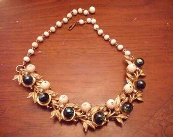 Trifari upcycled choker necklace