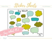 "Promises ""Say What Part 2"" stickers. Matches 100 days of Bible Promises. Great for any bible or faith journaling. Digital, printable."