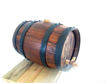 Old french oak wine barrel