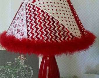 Razzle Dazzle Red Lamp