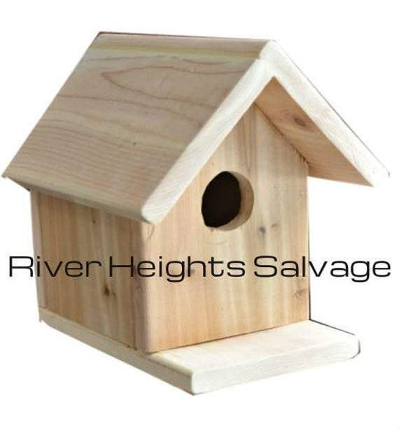 Birdhouse Kit DIY Bird Feeder Precut Pieces Kid Friendly Wood Worker Craft Hobbyist Gift Rustic Decor Creation Decor Nature Conservation