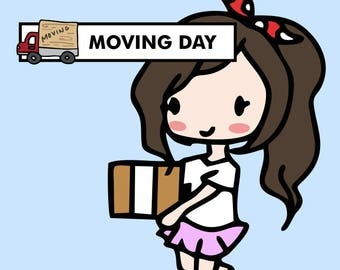 MOVING Stickers / planner stickers, moving day, packing, rent stickers, reminder stickers, new house, move out / SD67