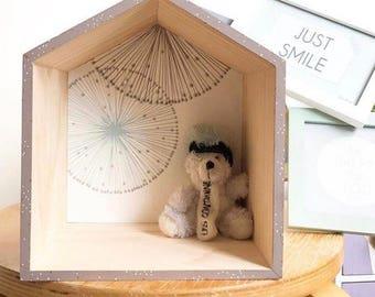 Cabin wall shelf wood size S