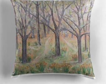 Beautiful Throw Cushion Featuring The Painting 'The Way'