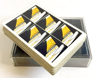 Vintage 1960's Continental Golden Jet Aviation Playing Cards Boeing Memorabilia
