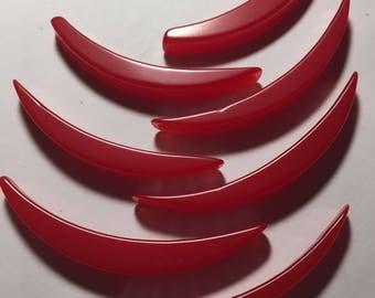 Seven Vintage Cherry Red Bakelite Pieces